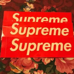 Supreme stickers authentic from New York store.